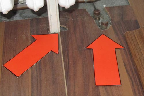 Improper laying of laminate flooring